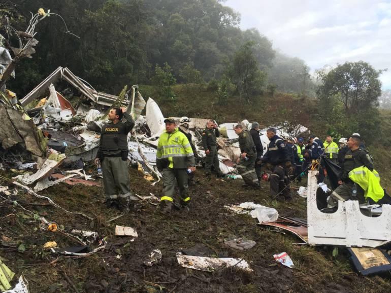 Avión siniestrado en La Unión, Antioquia.