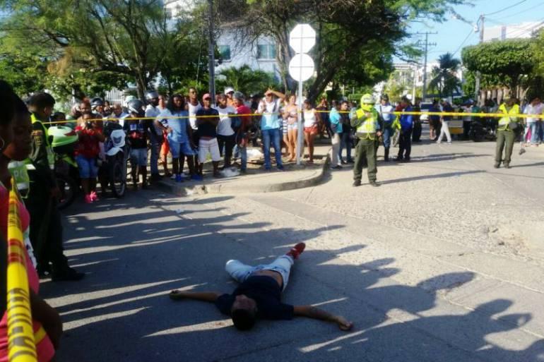 Dos muertos deja enfrentamiento con la Policía en Cartagena: Dos muertos deja enfrentamiento con la Policía en Cartagena