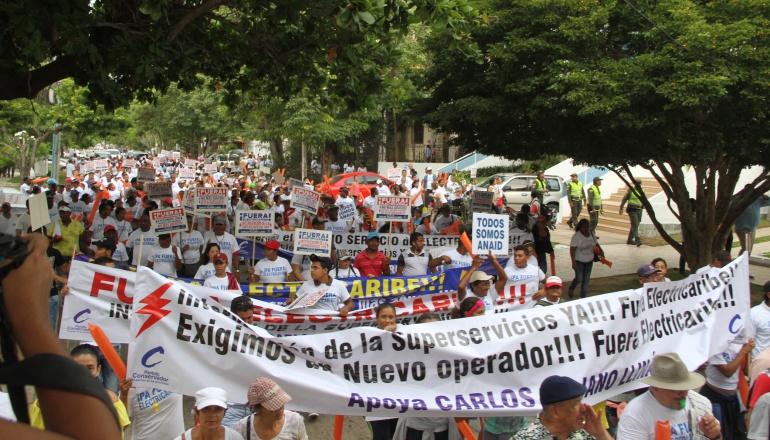 Marchas a lo largo del año contra precario servicio de Electricaribe