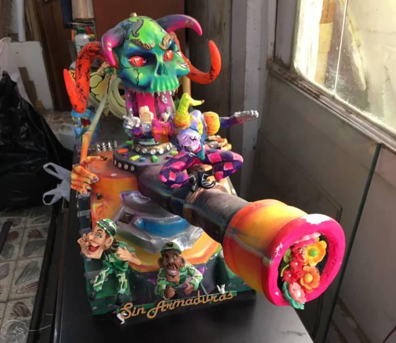 La carroza que rendirá homenaje a la paz en el carnaval de Pasto: Artesanos del Carnaval ultiman detalles de sus carrozas para el desfile magno