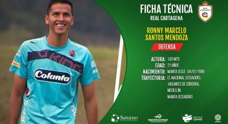 Ronny Santos y Cristian Palomeque se unieron a Real Cartagena: Ronny Santos y Cristian Palomeque se unieron a Real Cartagena