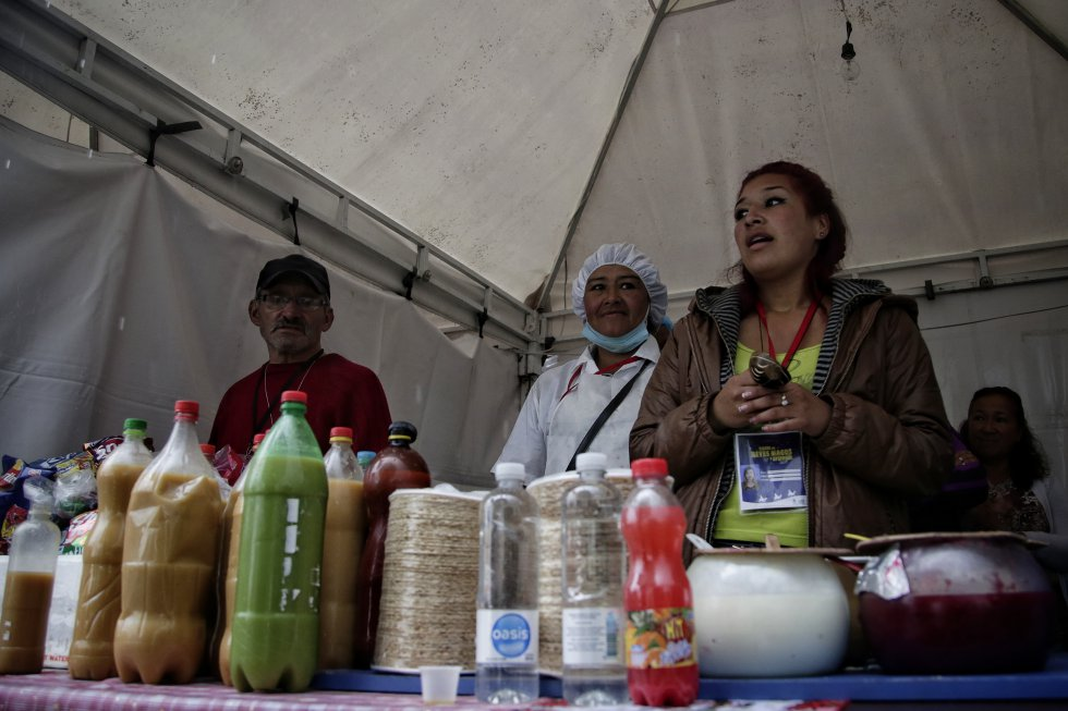 Muestra gastronómica en Bogotá durante el festival de los reyes magos.