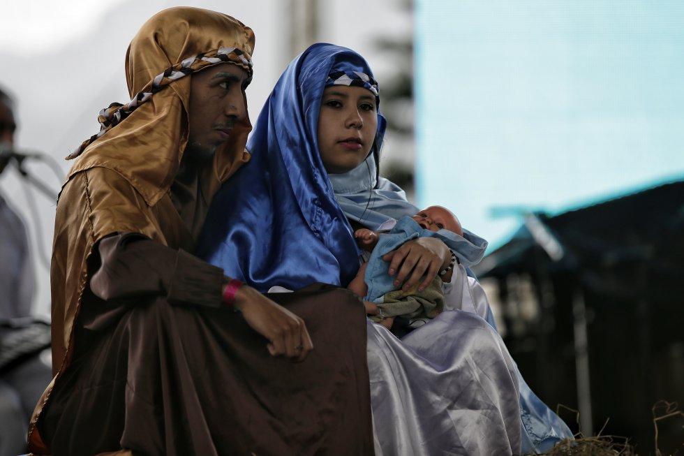 José y María se materializan en la tradicional fiesta del barrio al sur de Bogotá