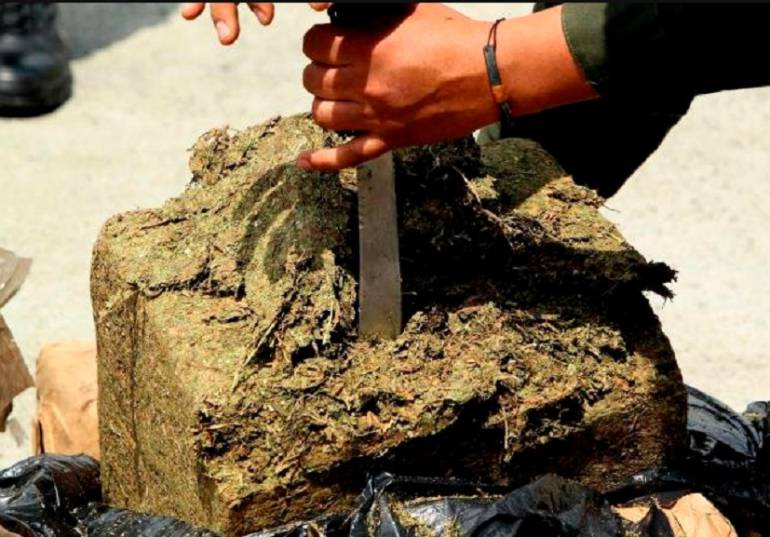 INCAUTAN MARIHUANA: Incautan 1 tonelada de marihuana que iba a ser vendida en Medellín