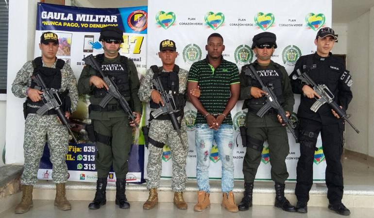 Capturan a un peligroso delincuente perteneciente al clan del Golfo en Sucre: Capturan presunto cabecilla del Clan del Golfo en la Mojana