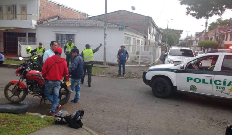 Robo en Cali: Ladrones robaron a víctimas de accidente de tránsito y a paramédicos