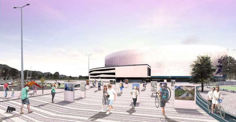 En el edificio envolvente de cuatro pisos se incluirán nuevos espacios como zonas de gastronomía, áreas comerciales, 20 suites, 10 boxes , salones VIP, parqueaderos y estacionamientos para bicicletas.