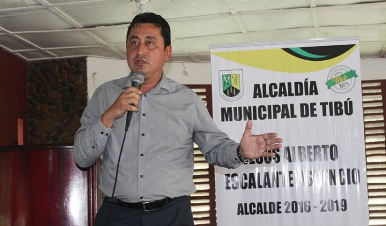 Jesús Alberto Escalante Ascencio alcalde del municipio de Tibú