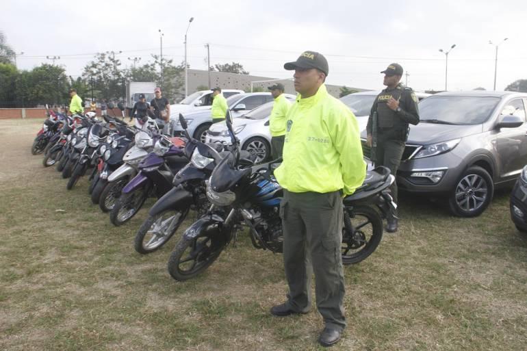 Motos y carros hurtados recuperados en Cali en 2017: Recuperados cerca de 90 motos y carros en Cali, en lo corrido de 2017