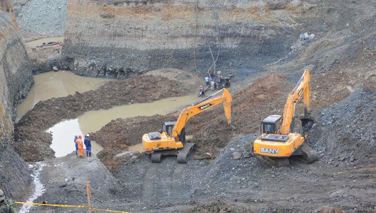 Derrumbe de una mina en Cauca: Murieron dos mineros y tres mas heridos en un derrumbe de una mina en Guaji, Cauca