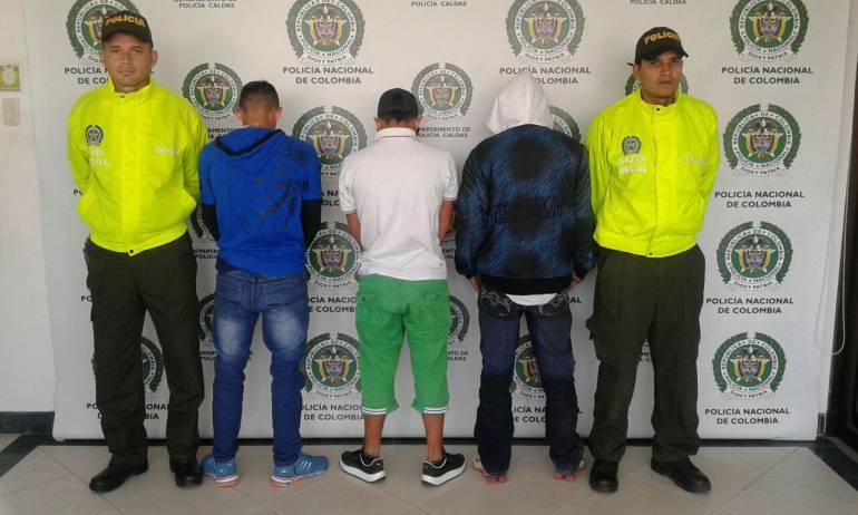Los tres presuntos asesinos de Samuel Rafael Mejís Hoyos.
