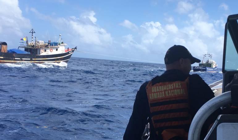 Barco colombiano quedó a la deriva cerca a San Andrés