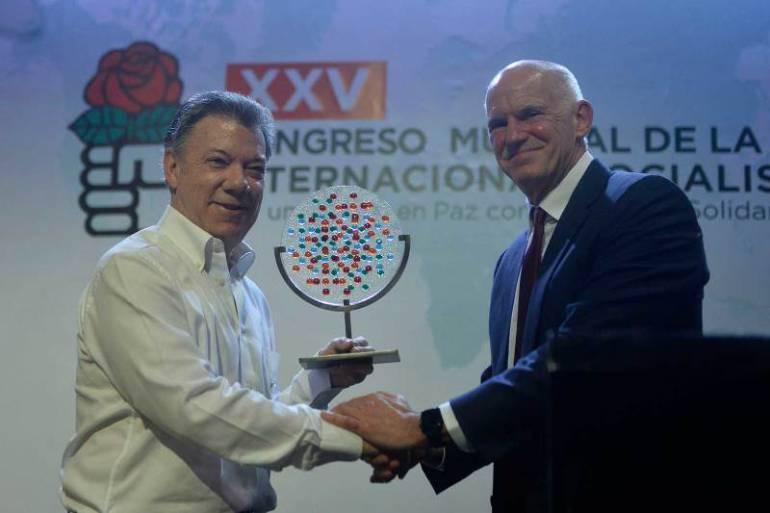 Presidente de la Internacional Socialista elogió liderazgo de Juan Manuel Santos: Presidente de la Internacional Socialista elogió liderazgo de Juan Manuel Santos