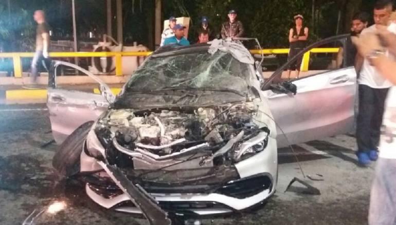 Así fue el aparatoso accidente luego de un pique ilegal en Cali