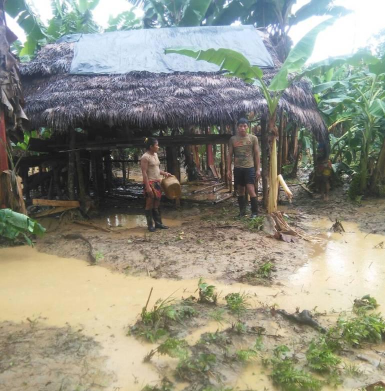 Comunidades indígenas las más afectadas por creciente del río Murindó.