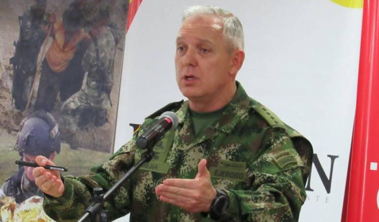 Comandante del Ejército Nacional el brigadier general Alberto José Mejía Ferrero.