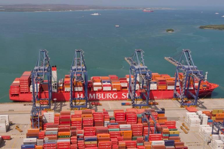 Buque de Hamburg Süd hizo recalada inaugural en Cartagena: Buque de Hamburg Süd hizo recalada inaugural en Cartagena