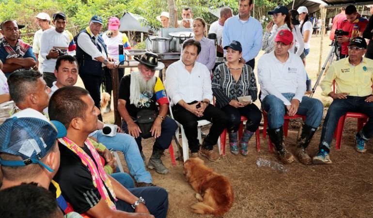 Gobernador de Norte de Santander llegó a la zona veredal de las Farc