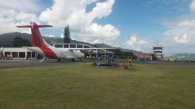 Ni los vuelos de Avianca a Bogotá, ni los de Easy Fly y Ada a Medellín se pudieron operar hoy en la mañana en Manizales.