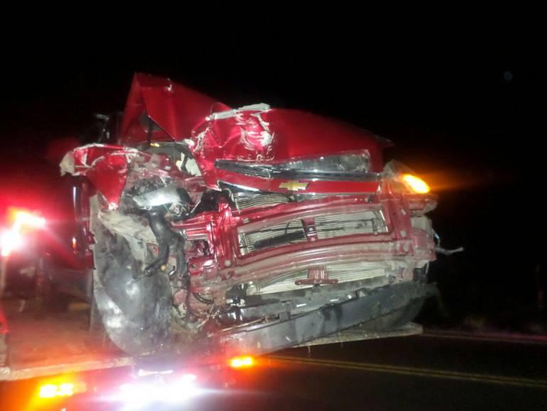 4 heridos en accidente vía san gil: Cuatro heridos dejó accidente en la vía Bogotá - San Gil
