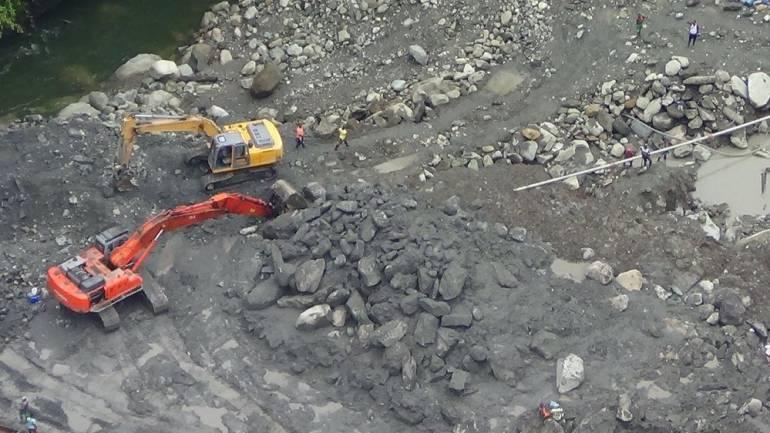 Operación contra minería ilegal en Buenaventura marzo 2017: En Buenaventura 300 personas trabajaban la minería ilegal