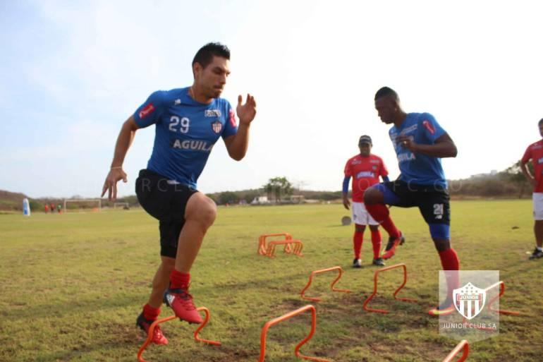 El equipo sigue entrenándose bajo las órdenes de Fernell Díaz de cara al partido contra Millonarios.