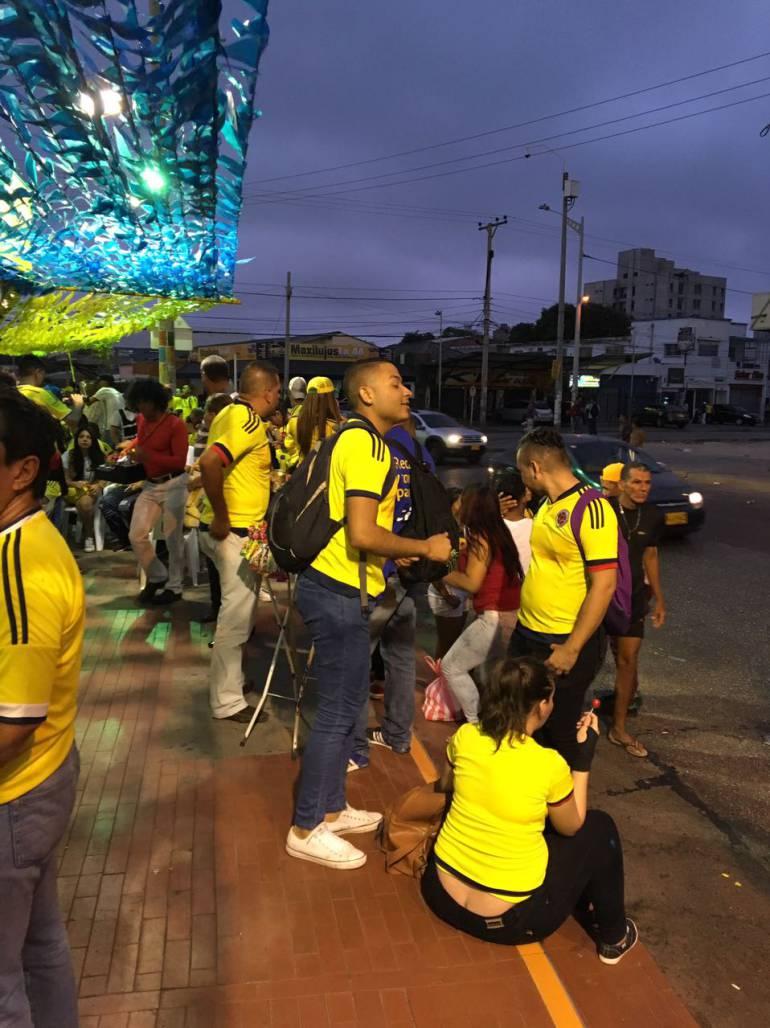 Barranquilla celebra el triunfo de la Selección Colombia