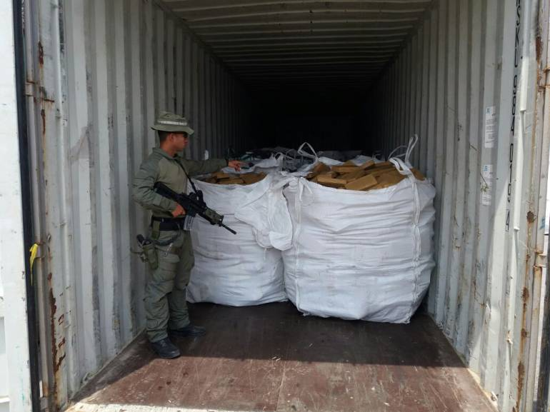 Policía colombiana decomisa 6.1 toneladas de cocaína