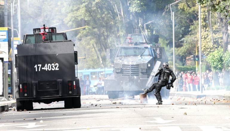 Fuertes disturbios en la universidad UPTC de Tunja, Boyacá: Fuertes disturbios en la universidad UPTC de Tunja, Boyacá