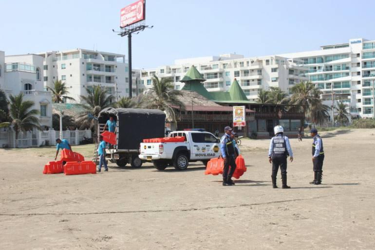 Control a vehículos en playas de Blas El Teso, en Cartagena: Control a vehículos en playas de Blas El Teso, en Cartagena