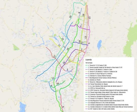 Las próximas troncales de Transmilenio: Así serán los 57 kilómetros de vías de Transmilenio que se construirán en Bogotá