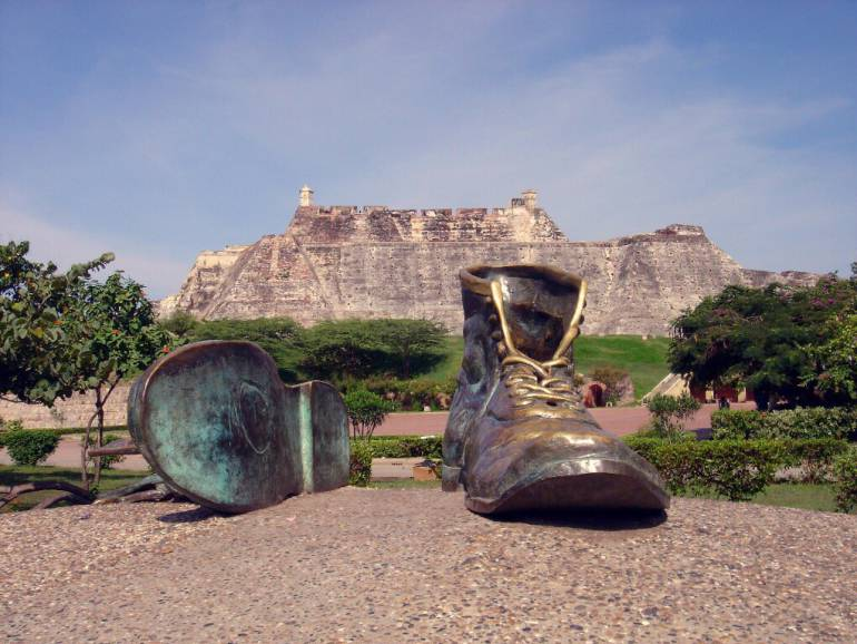 Monumento 'Las Botas Viejas'.