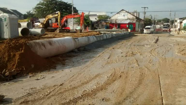 Estado de las obras tras los fuertes aguaceros