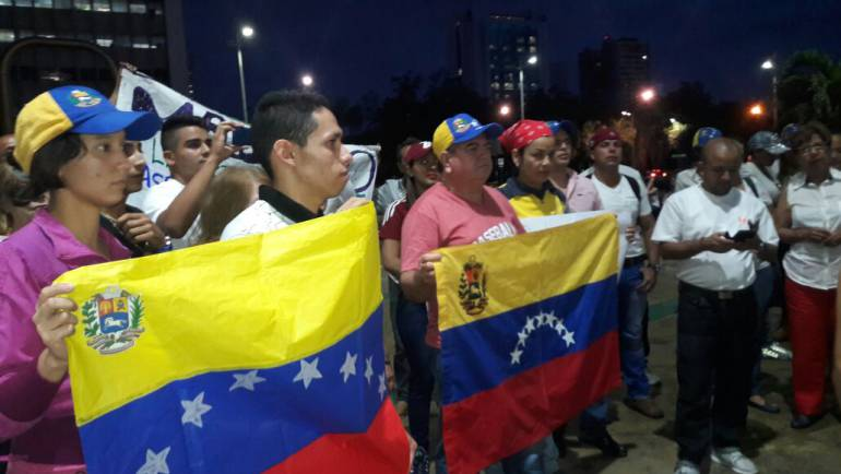 Venezolanos en Cali: Venezolanos radicados en Cali protestaron contra el régimen de Maduro