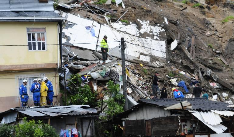 Crisis en Manizales: No para el drama en Manizales donde no encuentran a nueve personas