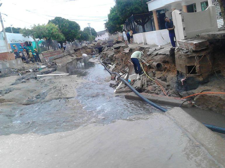 El arroyo de la carrera 21 socavó 30 viviendas en el barrio San José.