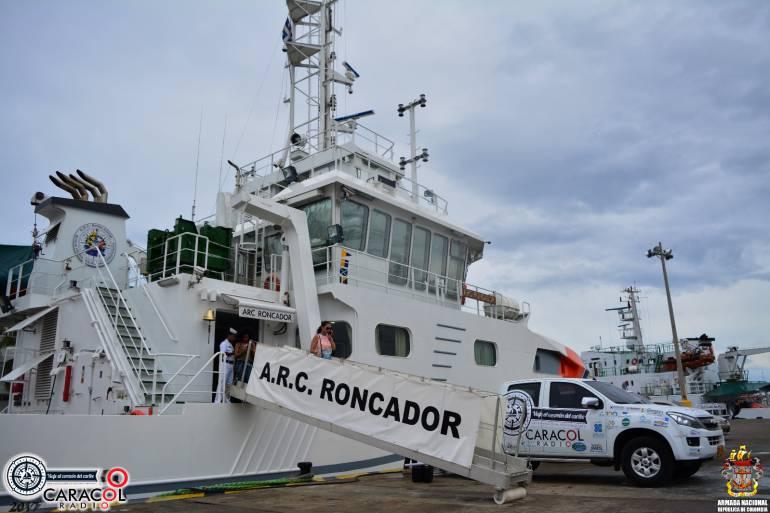 La expedición Viaje al Corazón del Caribe transmitió desde uno de los buques de la Armada Nacional