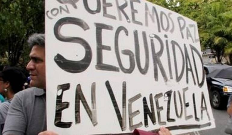 Protestas por inseguridad en Venezuela.