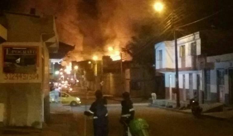 Incendio en Pitalito