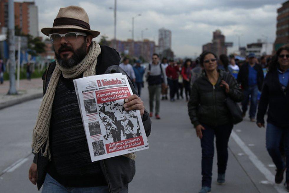 El presidente de Fecode, Carlos Rivas, aseguró que espera que unos 20.000 docentes salgan a marchar en Bogotá este miércoles desde las 9:00 a. m.
