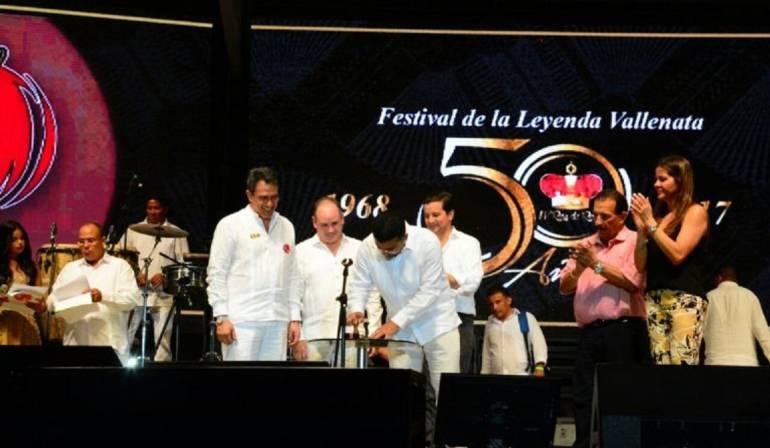 Inauguración del 50 Festival de la Leyenda Vallenata