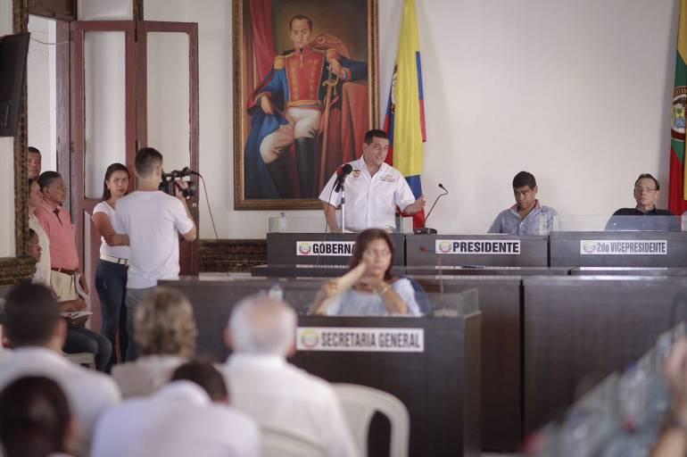 Gobernador de Bolívar clausuró primer periodo ordinario en la asamblea departamental: Gobernador de Bolívar clausuró primer periodo ordinario en la asamblea departamental