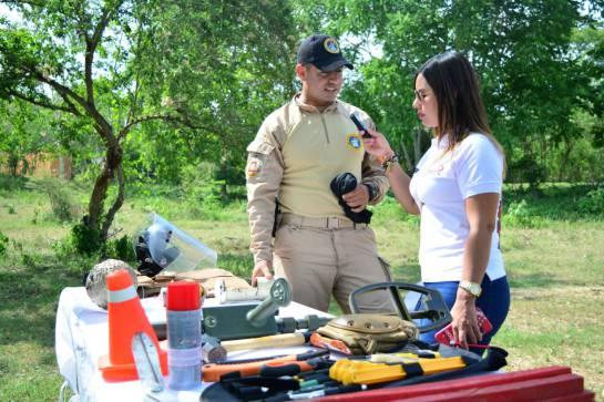 Capitán de Infantería de Marina Jorge Mario Melo Jiménez, comandante de la compañía de Desminado Humanitario de la Armada Nacional.