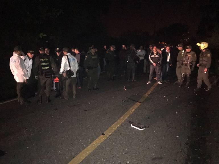 Dos policías resultaron heridos en un atentado con explosivos en Antioquia