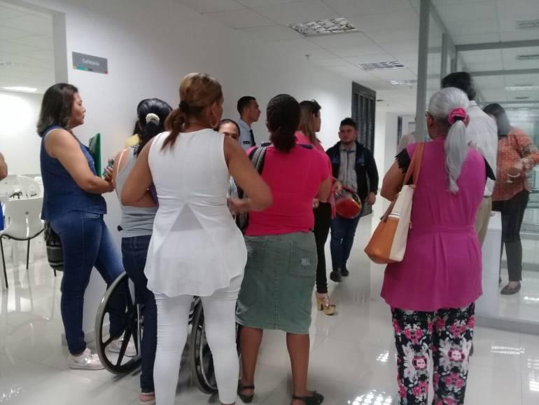 Protestas contra Cafesalud en Barranquilla: Denuncian que Cafesalud no entrega medicinas a niños discapacitados
