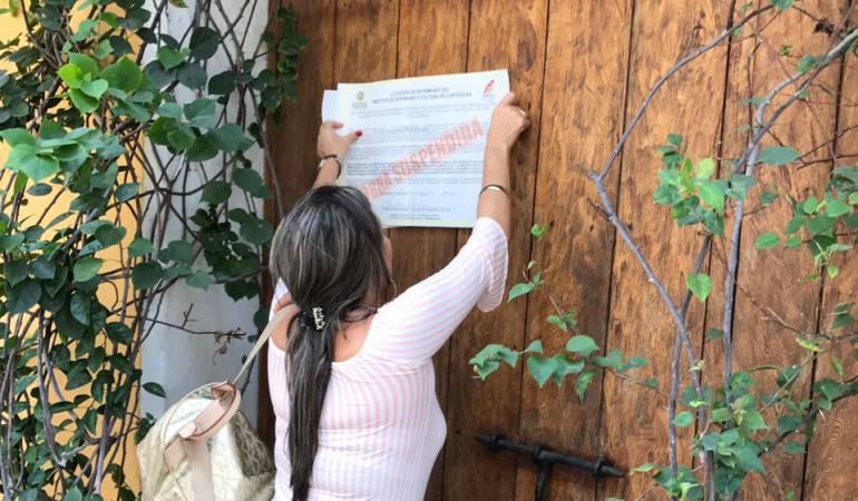 Sellan obra sin permisos en el Centro Histórico de Cartagena