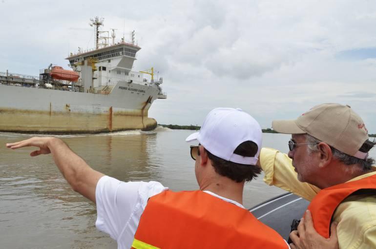 Zona portuaria de  Barranquilla.