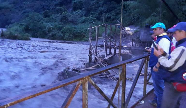 Creciente río Guali, Honda