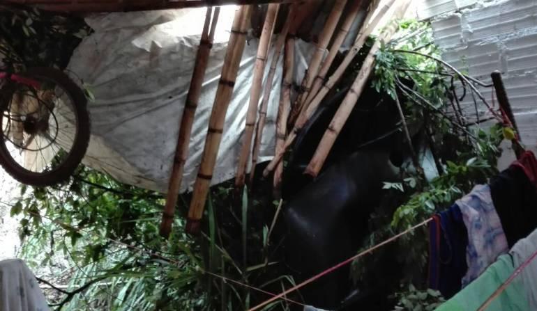 Vivienda afectada en Supia, Caldas/ Cortesía: Unidad de Gestión del Riesgo de Caldas.
