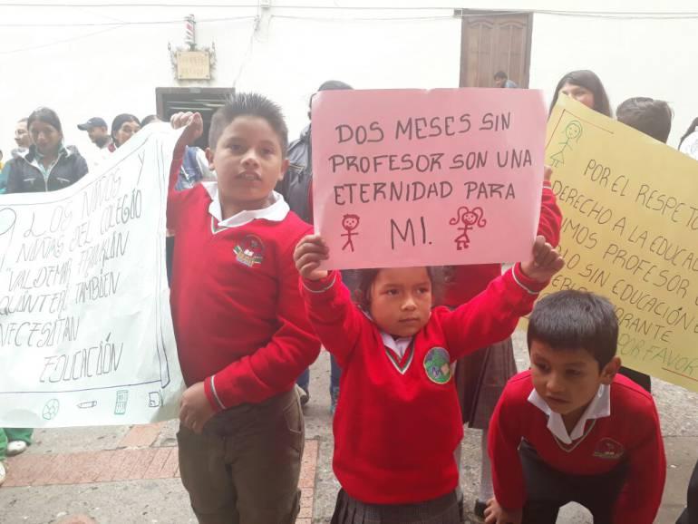 Chíquiza Boyacá: Gobernador de Boyacá culpa al gobierno nacional ante quejas de estudiantes de colegio